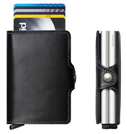 Secrid Secrid Twin Wallet zwart dubbele pasjeshouder Black