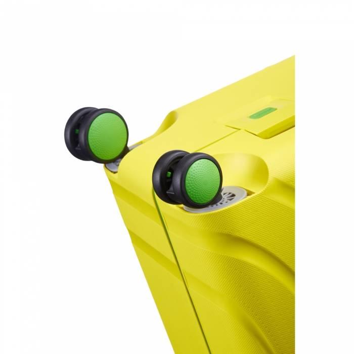 American Tourister Zwarte American Tourister Lock 'n Roll Spinner 69 Sunshine Yellow reiskoffer
