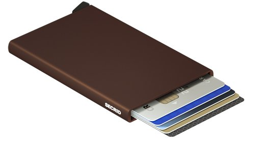Secrid Secrid cardprotector Brown uitschuifbare pasjes bescherming pasjeshouder