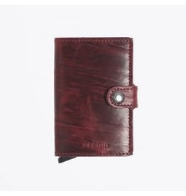 Secrid Secrid Mini Wallet Dutch Martin Bordeaux pasjeshouder