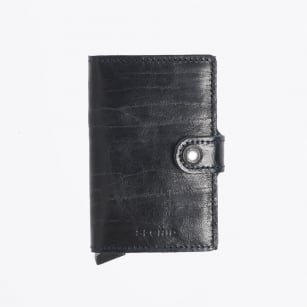 Secrid Secrid Mini Wallet Dutch Martin Night Blue leren uitschuifbare pasjeshouder