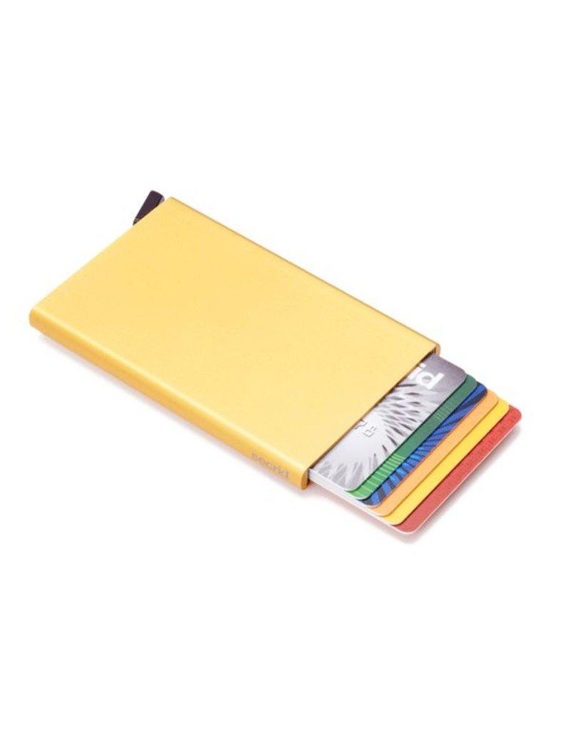 Secrid Secrid cardprotector Gold uitschuifbare pasjes bescherming pasjeshouder