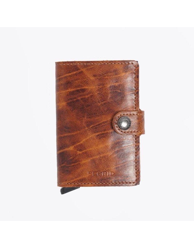 Secrid Secrid Mini Wallet Dutch Martin Whiskey leren uitschuifbare pasjeshouder