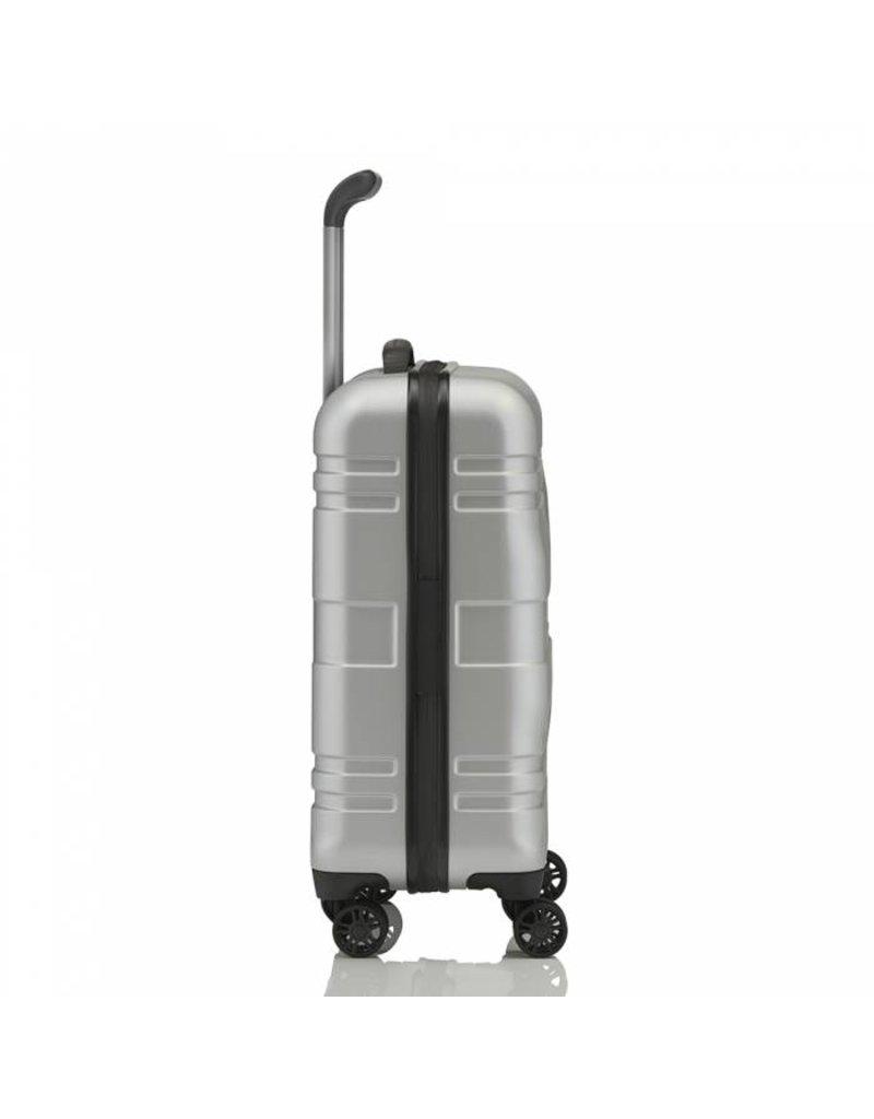 Titan Titan Prior 4 wiel handbagagetrolley S Ice Silver 55cm