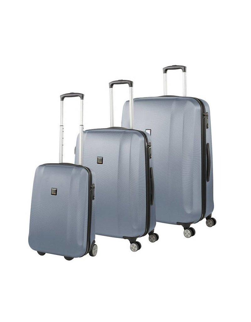 Titan Titan Xenon kofferset driedelig blauw handbagage middenmaat en grote reiskoffer