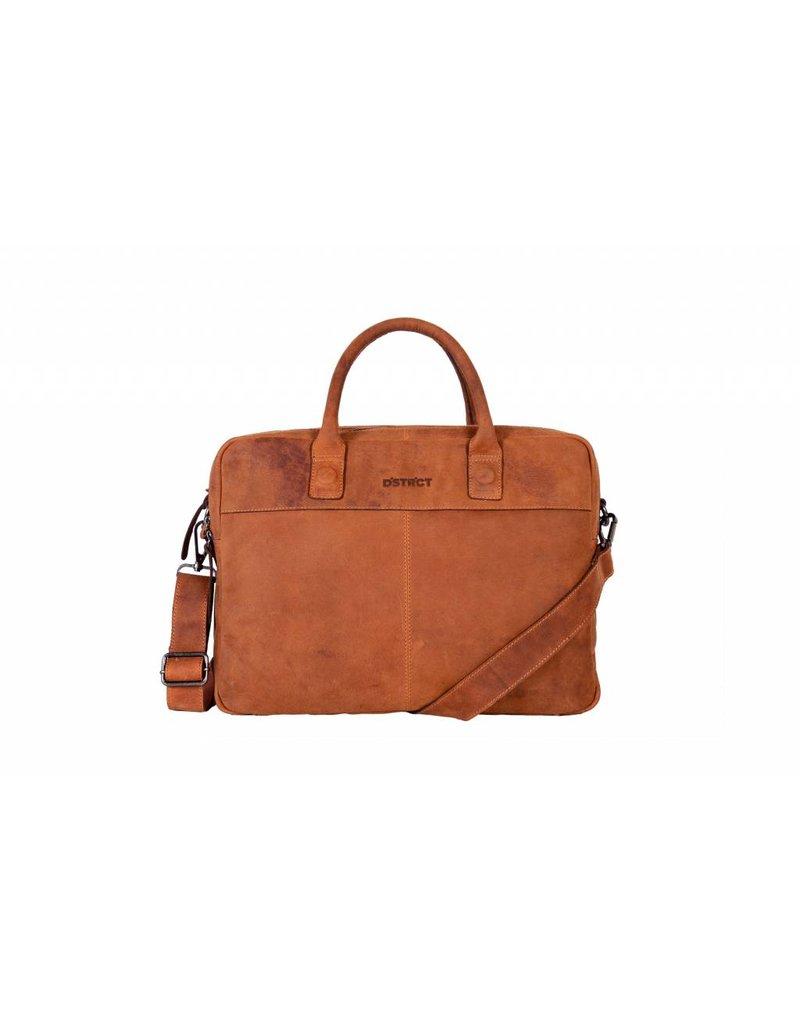 DSTRCT DSTRCT 076520 leren businesstas laptop 15.6 inch cognac