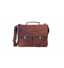 DSTRCT DSTRCT 076220 leren businesstas aktetas laptop 15 inch brown