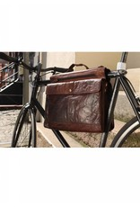 Spikes and Sparrow Spikes and Sparrow Bronco leren fietstas zwartbuffelleer