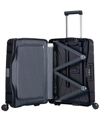 American Tourister Zwarte American Tourister Lock 'n Roll Spinner 55 Jet Black handbagagekoffer