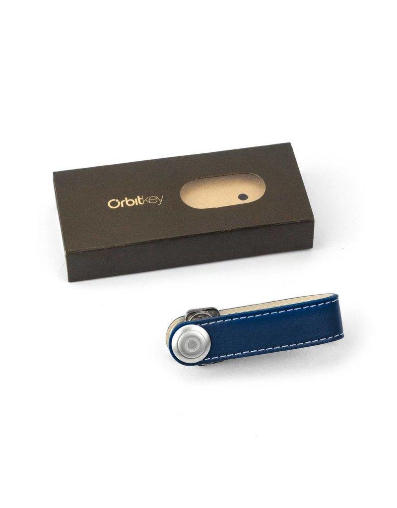 Orbitkey Orbitkey Premium Leren sleutelhouder Navy White