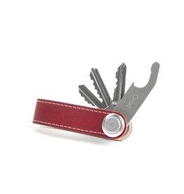 Orbitkey Orbitkey Premium Leren sleutelhouder Red White