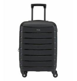 Titan Titan Limit 4 wiel handbagage trolley S Black