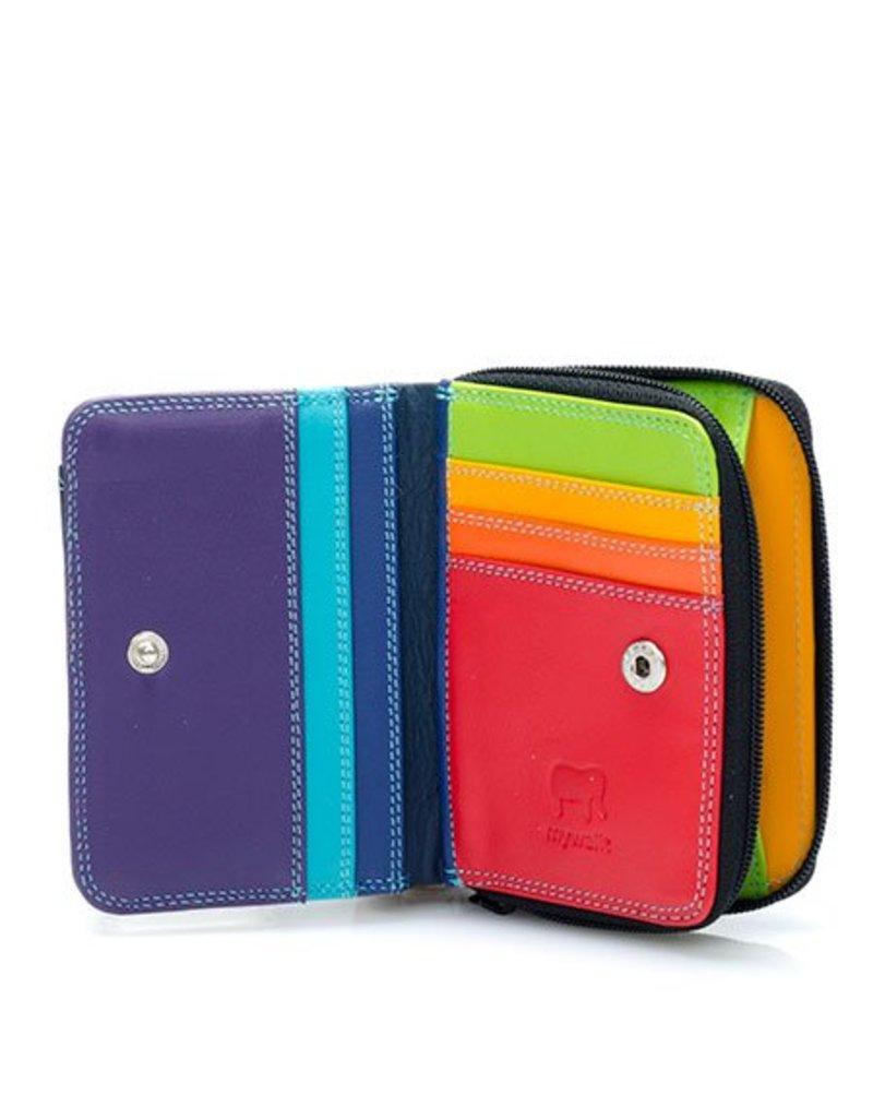 Mywalit Mywalit Small Wallet met Zip Around Purse - Black Pace - portemonnee