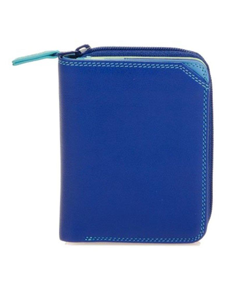 Mywalit Mywalit Small Wallet met Zip Around Purse - Seascape - portemonnee
