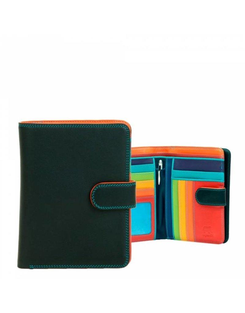 Mywalit Mywalit Large Wallet met Zip Purse - Black Pace - portemonnee