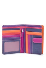 Mywalit Mywalit Large Wallet met Zip Purse - Sangria Multi - portemonnee