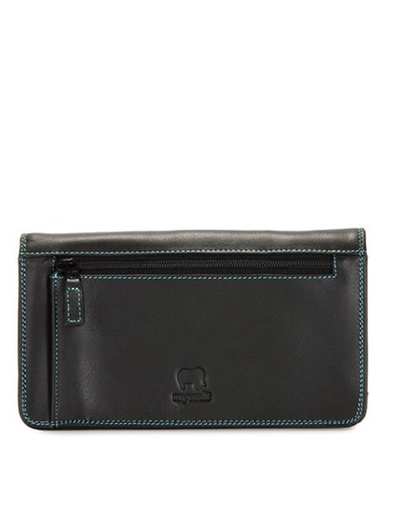 Mywalit Mywalit Medium Matinee Purse Wallet - Black Pace - portemonnee