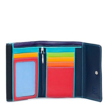 Mywalit Mywalit Double Flap Purse Wallet - Black Pace - portemonnee - kleurtjes