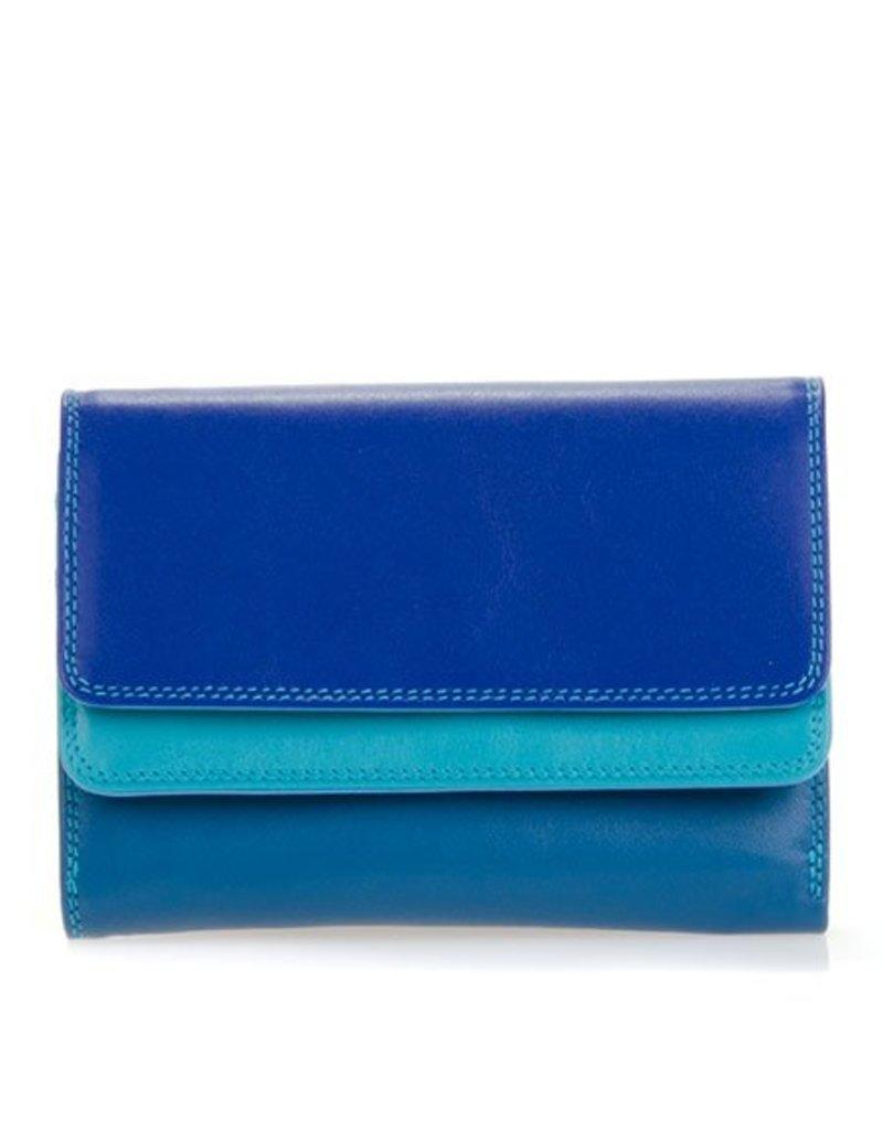 Mywalit Mywalit Double Flap Purse Wallet - Seascape - portemonnee