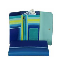 Mywalit Mywalit Tri-Fold met Outer Zip Purse - damesportemonnee - Seascape