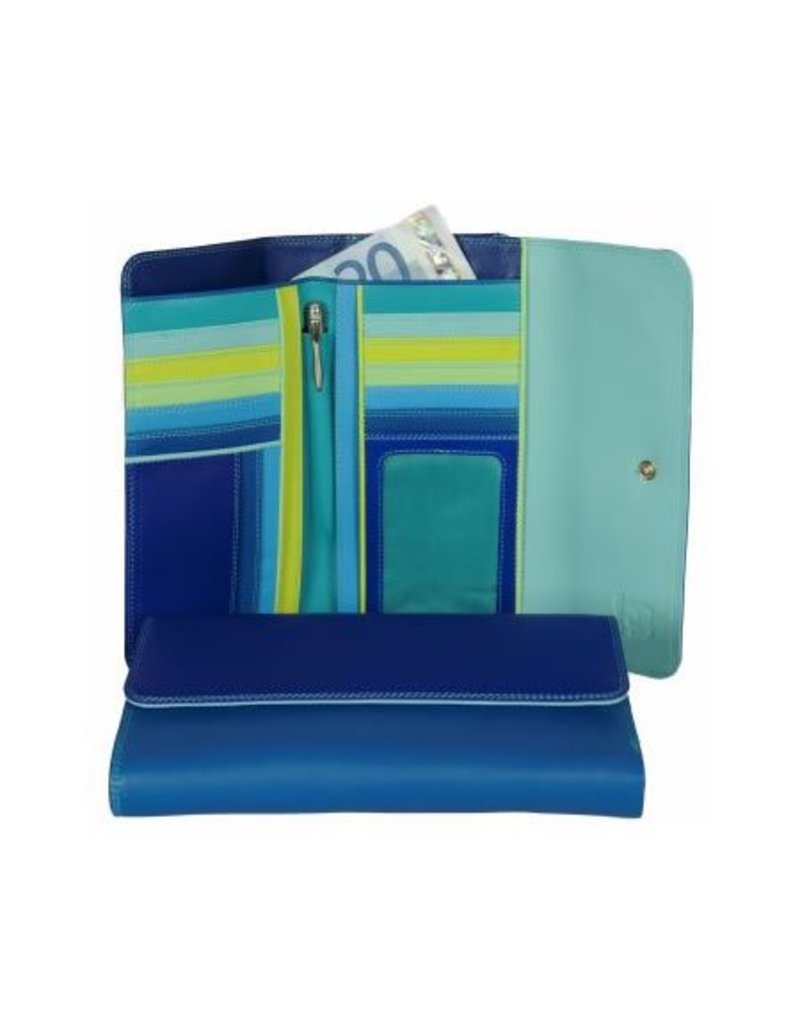 Mywalit Mywalit Tri-Fold met Outer Zip Purse - Seascape - portemonnee - kleurtjes