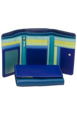 Mywalit Mywalit Medium Tri-Fold met Outer Zip Purse - Seascape - portemonnee