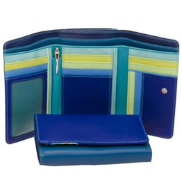 Mywalit Mywalit Medium Tri-Fold met Outer Zip Purse - damesportemonnee - Seascape