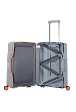 American Tourister American Tourister Lock 'n Roll Spinner 55 Volt Grey handbagagekoffer