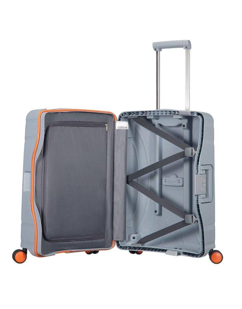 American Tourister American Tourister Lock 'n Roll Spinner 55 Volt Grey handbagagekoffer