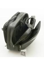 Davidt's Davidt's leren laptoptrolley Leyden Multifunction Bag met wielen Zwart