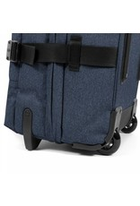 Eastpak Eastpak Tranverz M Double Denim reistas met wieltjes 78 liter reistrolley lichtgewicht