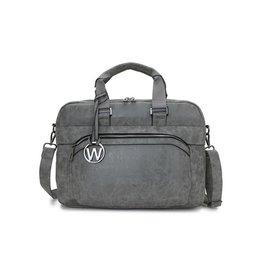 Wimona Wimona Eliana - school werk laptoptas - grijs