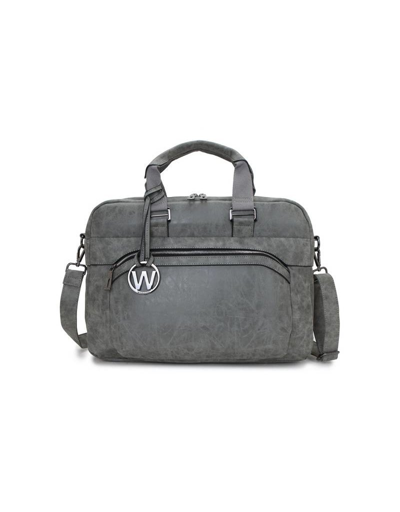 Wimona Wimona Eliana - school / werk 16 inch laptoptas - grijs