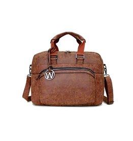 Wimona Wimona Eliana - school werk laptoptas - cognac
