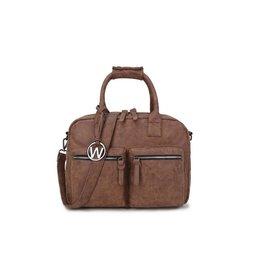 Wimona Wimona Alessia - school werk laptoptas - westernbag - cognac