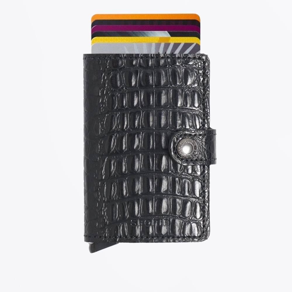 Secrid Mini-portefeuille Nil Cuir Noir Porte-carte De Traction FbFmGw