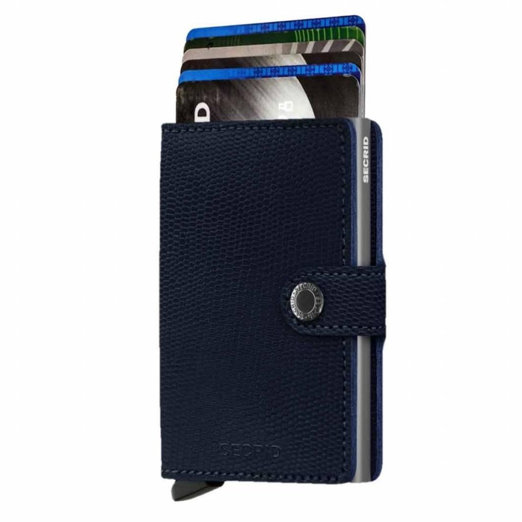 Secrid Mini-protecteur Carte De Porte-monnaie Rango Titane Bleu Apprentissage Titulaire De La Carte Extensible XhsH34