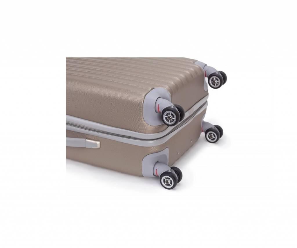 Decent Decent Tranporto - ABS driedelige trolley kofferset - Champagne