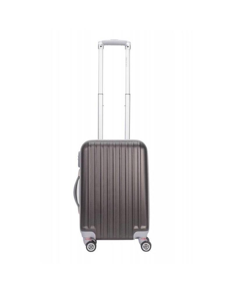 Decent Decent Tranporto - ABS driedelige trolley kofferset - Antraciet