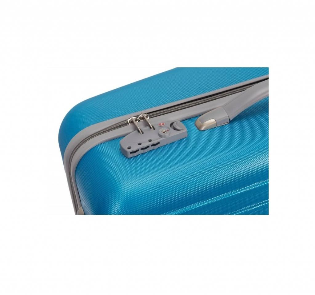 Decent Decent Tranporto - ABS driedelige trolley kofferset - Oceaan Blauw