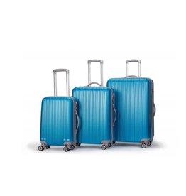 Decent Decent Tranporto - ABS trolley kofferset - Oceaan Blauw