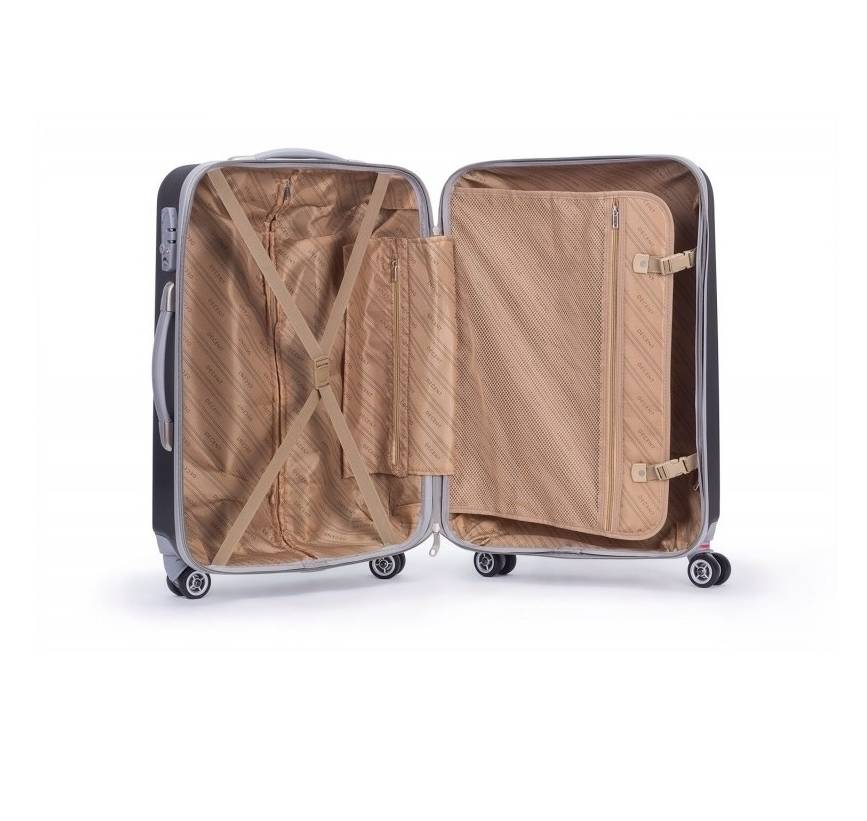 Decent Decent Tranporto - ABS driedelige trolley kofferset - Fuchsia