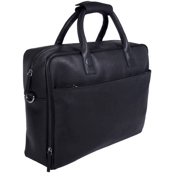 DSTRCT DSTRCT 016420 leren businesstas laptop 17.3 inch zwart