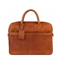 "Burkely Burkely Antique Avery leren laptoptas 15"" cognac"