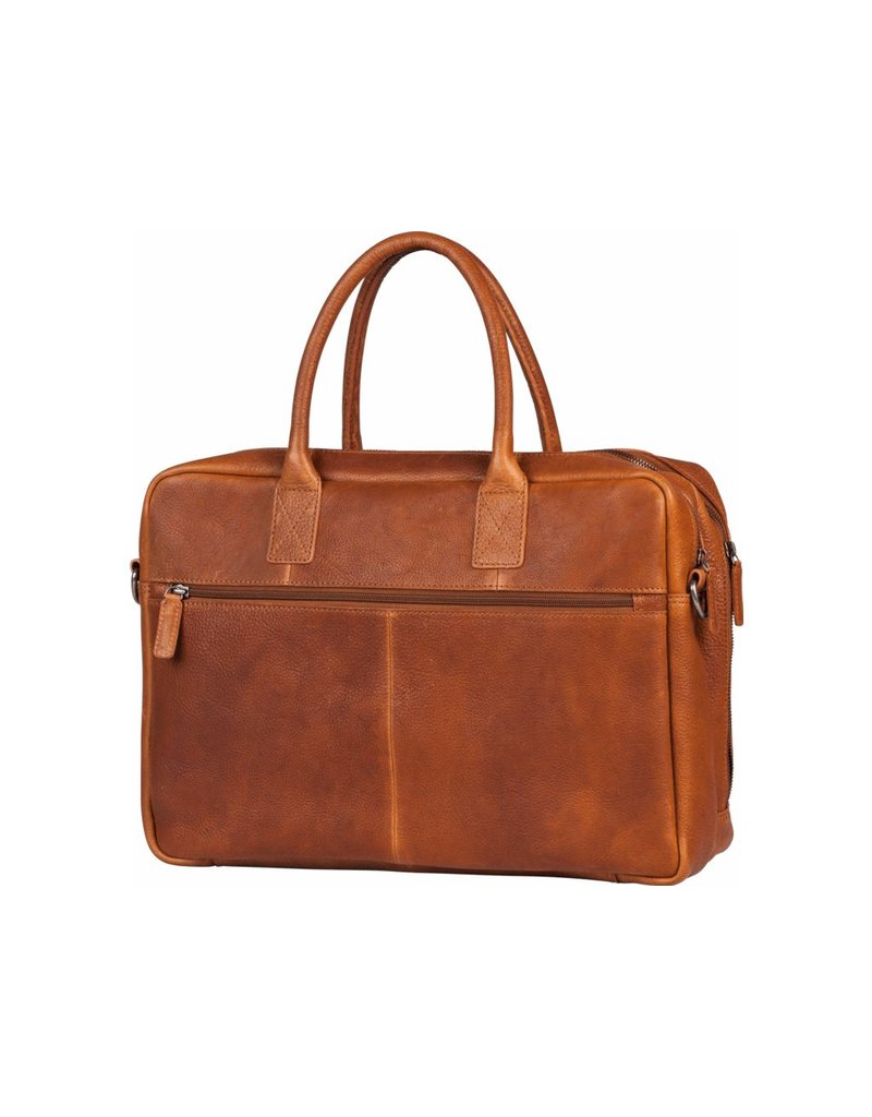 "Burkely Burkely Antique Avery Worker 15.6"" cognac"