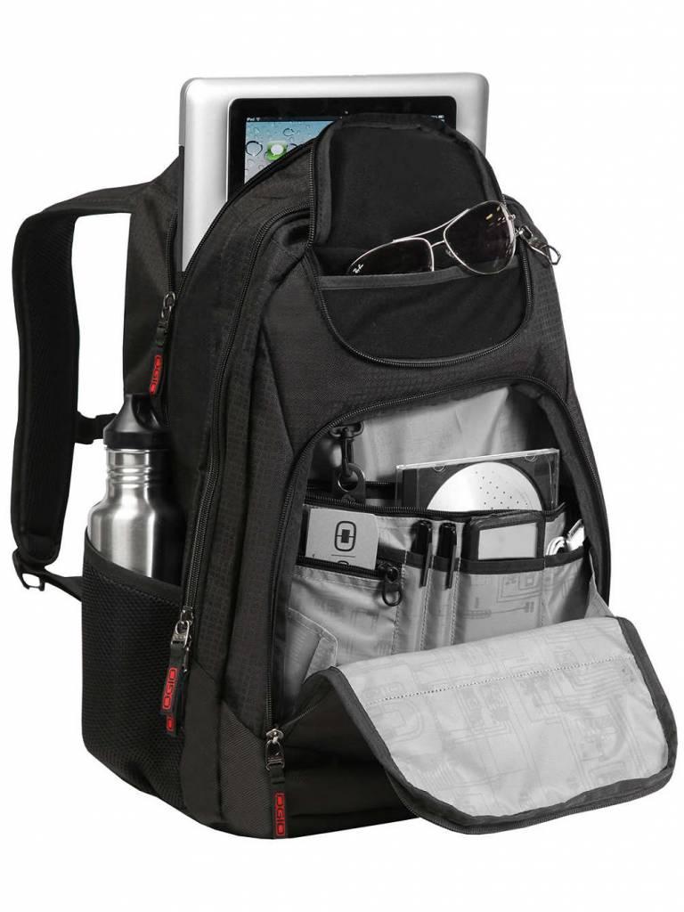 Ogio Ogio Tribune 17 laptoprugzak Black 17 inch laptop en tabletvak
