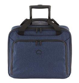 Delsey Delsey Esplanade handbagagetrolley boardcase laptoptas Blauw