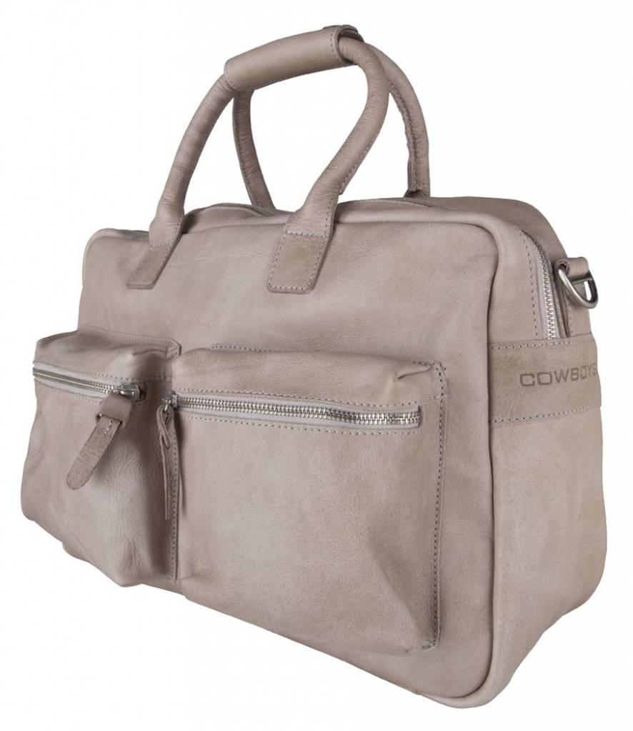 Cowboysbag Cowboysbag - The Diaperbag - leren luiertas - Elephant Grey