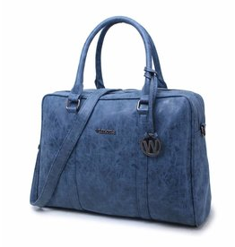 "Wimona Wimona Luciana - school werk 15.6"" laptoptas - Donkerblauw"