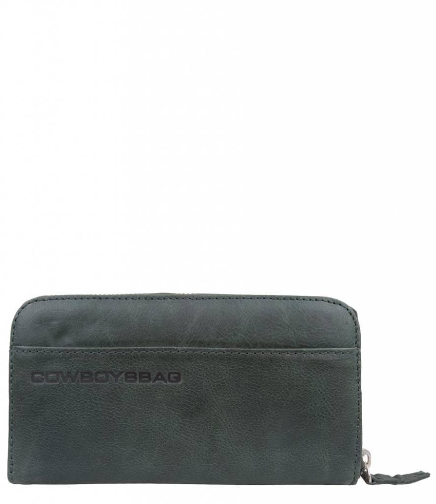 Cowboysbag Cowboysbag - The Purse - Green - damesportemonnee